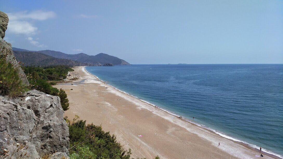 Çıralı plajı Olimpos tarafından bakış