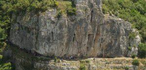 Ballıkayalarda tırmanış yapan grup